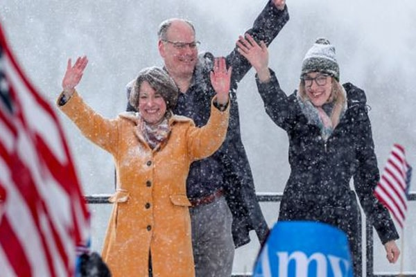 Amy Klobuchar with her family including daughter Amy Klobuchar.