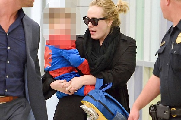 Adele and his son Angelo Adkins