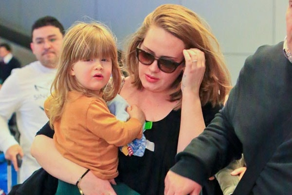 Adele with her son Angelo Adkins