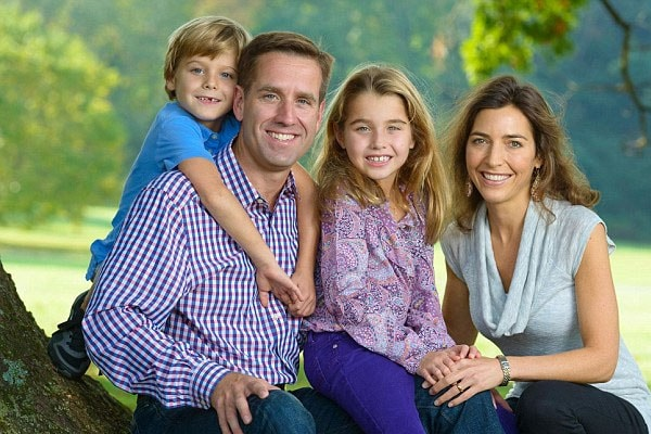 Late Beau Biden's daughter Natalie Biden, son and wife.