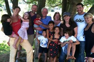 Bernie Sanders' grandchildren and children.