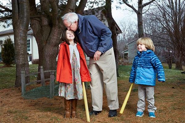 Bernie Sanders' grandchildren love spending time with him.