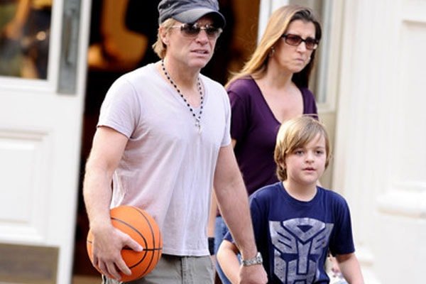 Bon Jovi and his son Romeo