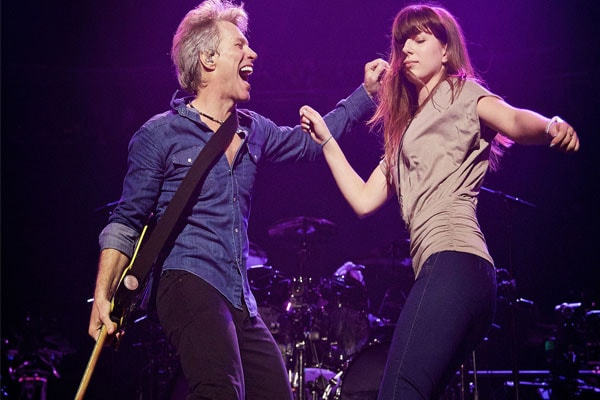 Bon Jovi with his daughter Stephanie Rose