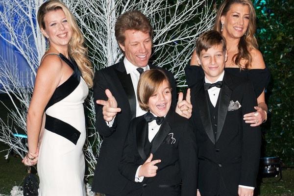 Bon Jovi's son Romeo Jon with his family