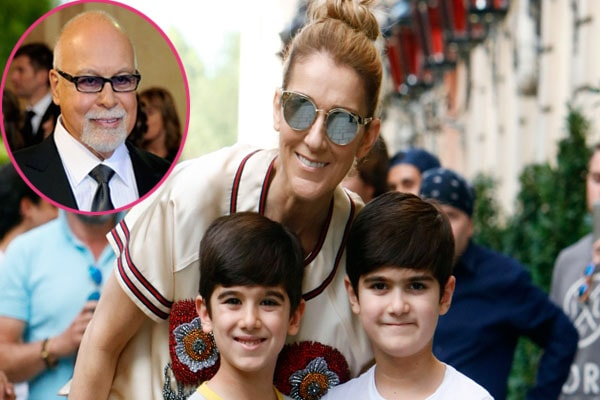 Celine Dion Sons' Nelson Angelil and Eddy Angelil
