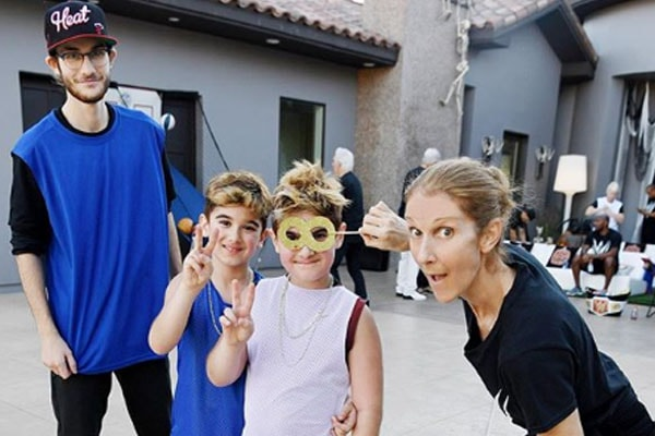 Celine Dion and her three sons