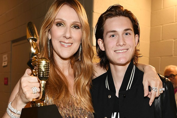 Celine Dion and her son Rene-Charles