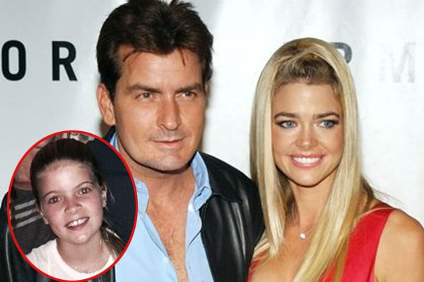 Charlie Sheen's daughter Lola Rose Sheen with Denise Richards