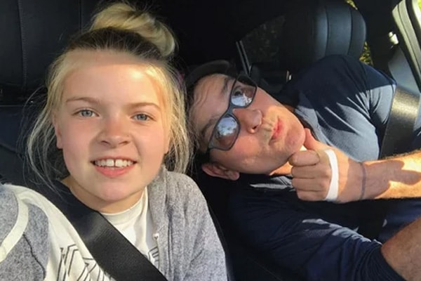 Charlie Sheen with his daughter Lola Rose