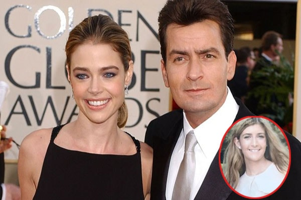 Denise Richards and her ex-husband Charlie Sheen with daughter Sam Sheen