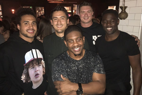 Jerry Rice Jr. with friends