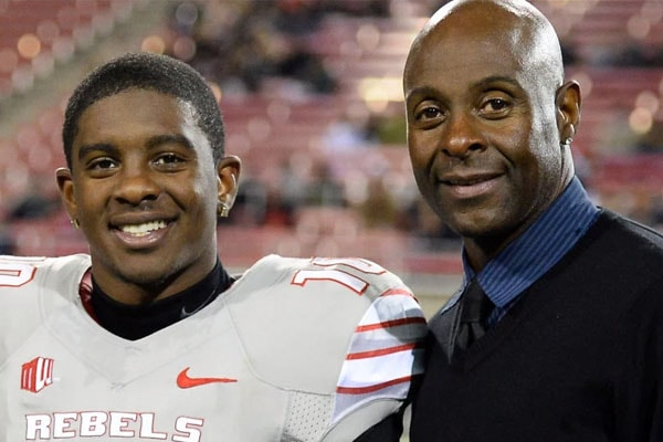 Jerry Rice Jr. with father Jerry Rice