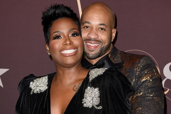 Fantasia Barrino's husband Kendall Taylor with her