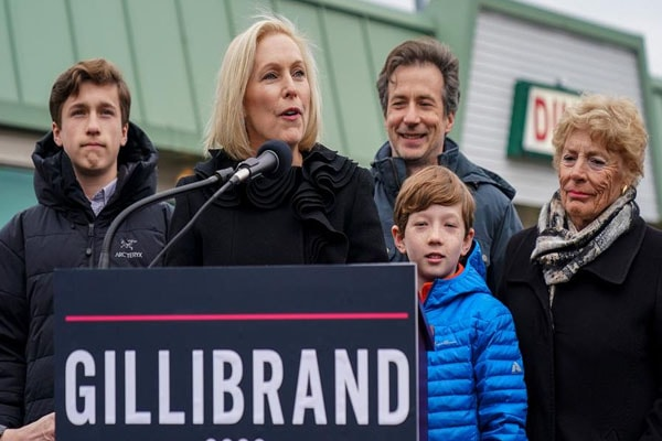 Kristen Gillibrand with her family