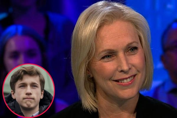 Kirsten Gillibrand with her son, Thoedore Gillibrand