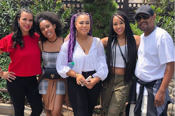 Martin Lawrence with his daughters and ex-wife Shamicka Lawrence including Iyanna Faith Lawrence
