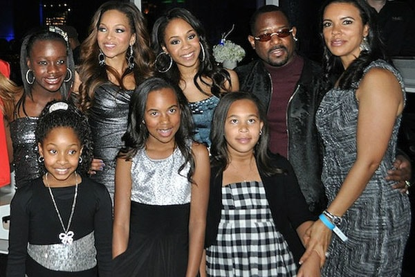 Martin Lawrence's family during Jasmine Page's birthday