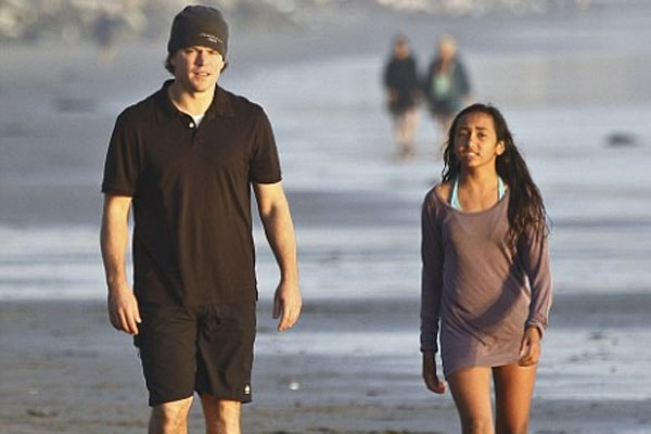 Matt Damon and Alexia Barroso