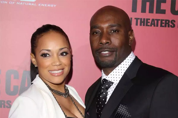 Pam Byse with Morris Chestnut.