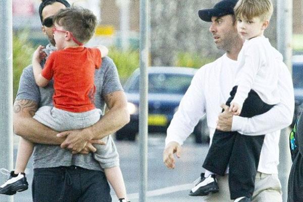 Ricky Martin's twin sons with his husband Jwan Yosef.