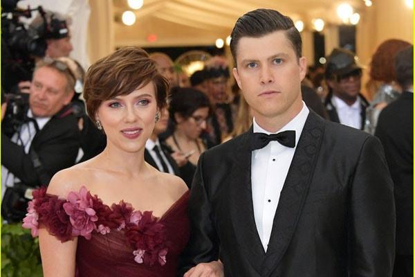 Scarlett Johansson and boyfriend Colin Jost.