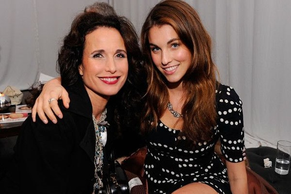 The singer, Rainey Qualley with her mother, Andie MacDowell