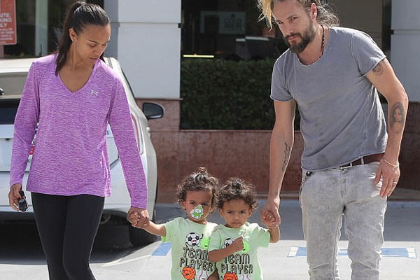Zoe Saldana and Mark Perego parents to three kids