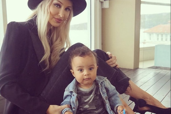 Hopsin's baby mama and son, Alyce Madden and Zade Ryker Lee