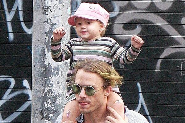 Heath Ledger and daughter Matilda Ledger