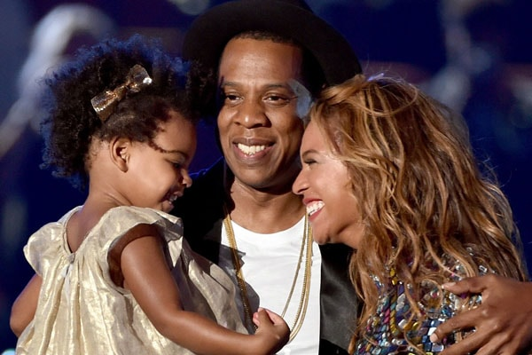 Beyonce with husband and daughter