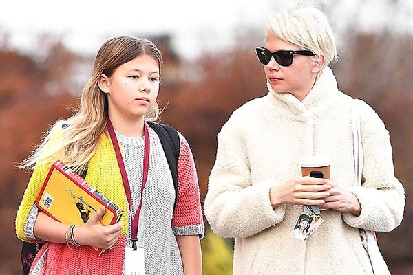 Michelle Williams and her daughter Matilda Ledger