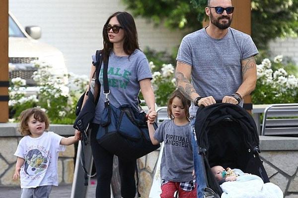 Megan Fox with husband Brian Austin Green and kids