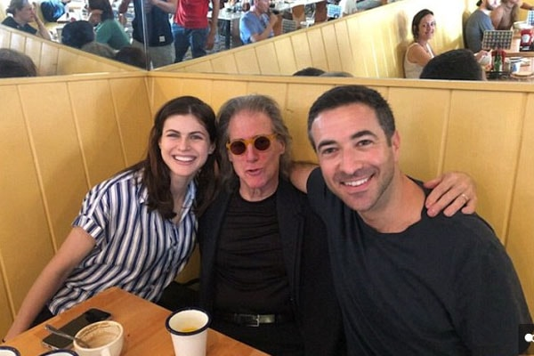 Ari Melber with his current girlfriend, Alexandra Daddario, joined by Richard Lewis