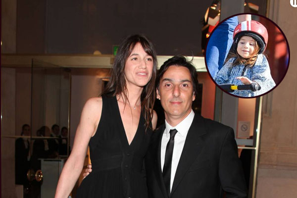 Yvan Attal with his wife, Charlotte Gainsbourg