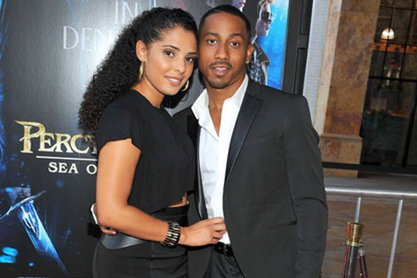 Brandon T. Jackson and his wife, Denise Xavier