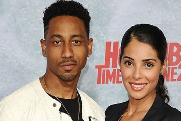 Brandon T. Jackson with his wife Denise Xavier
