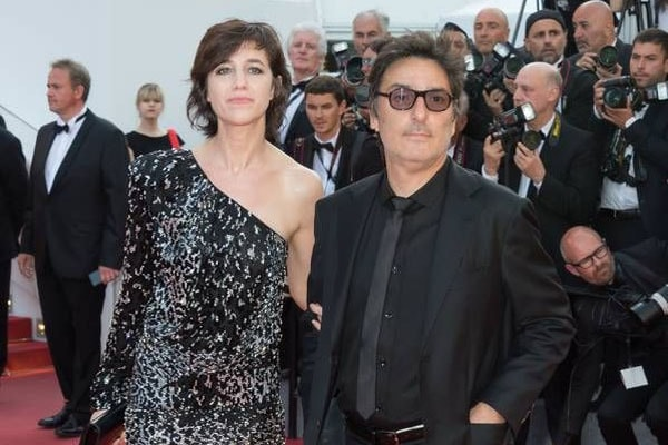 Charlotte Gainsbourg with her partner, Yvan Attal