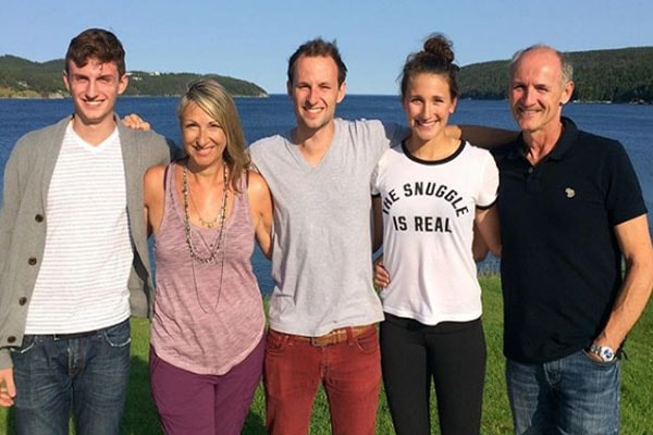 Colm Feore and his three children