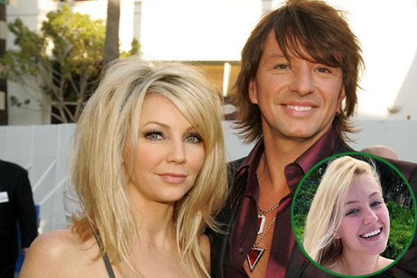 Heather Locklear and his ex-husband Richie Sambora with their daughter Ava Elizabeth Sambora