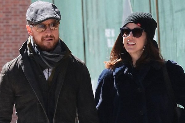 James McAvoy alongside with his girlfriend Lisa Liberati
