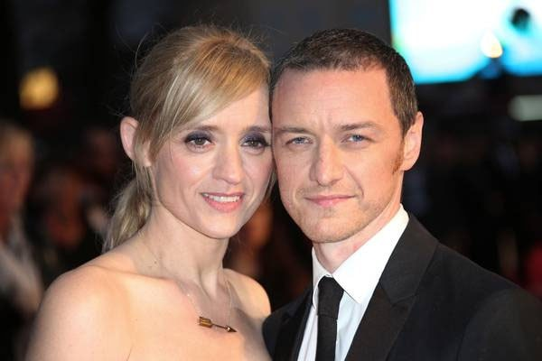 James McAvoy with his ex-wife, Anne-Marie Duff an son Brendan McAvoy