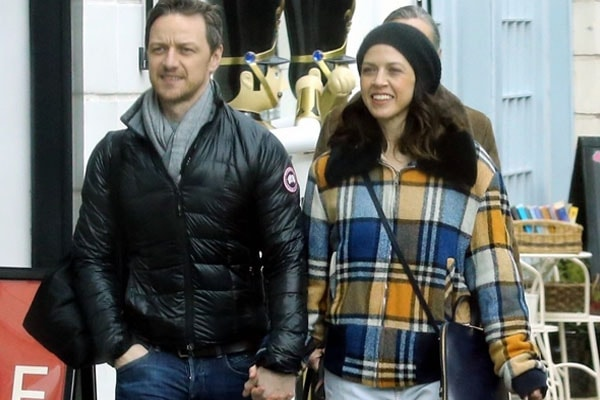 James McAvoy with his girlfriend Lisa Liberato