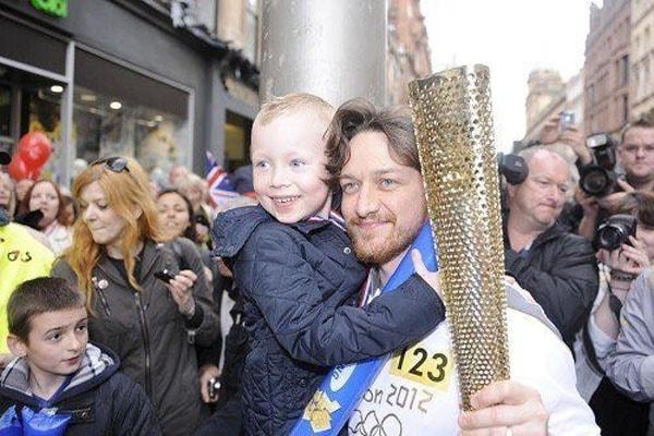 James McAvoy with his son Brendan McAvoy