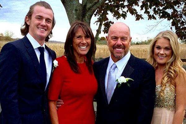 Jason Bonham with his family