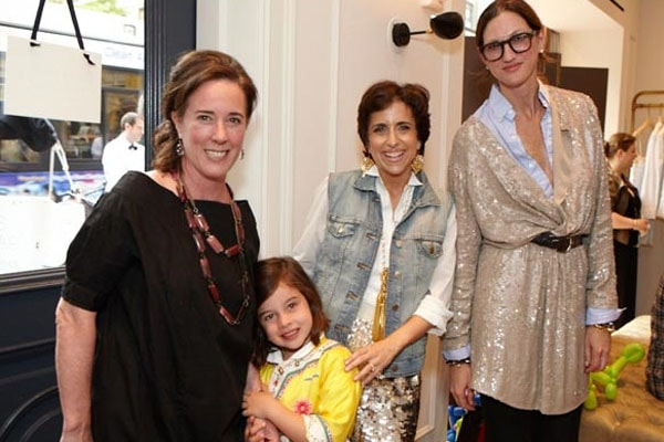 Late Kate Spade with her daughter Frances Beatrix Spade
