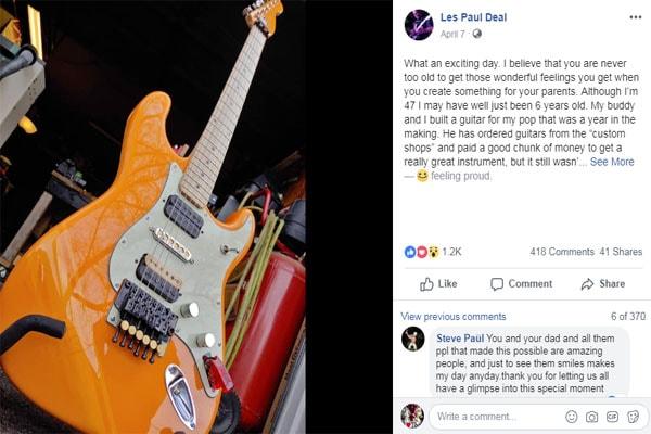 Mick Mars' son Les Paul Deal