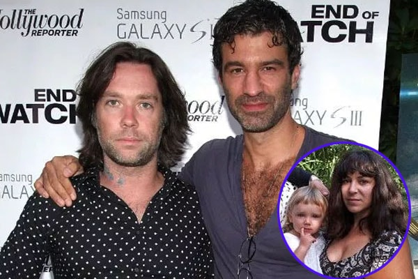 Rufus Wainwright and his partner Jorn Weisbrodt with their daughter Viva Katherine Wainwright Cohen
