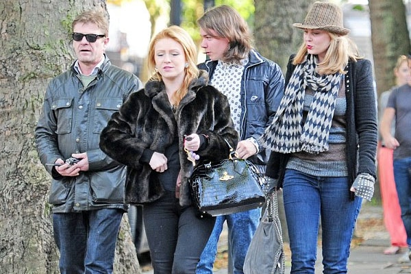 Sean Bean and his girlfriend Ashley, joined by Lorna Bean