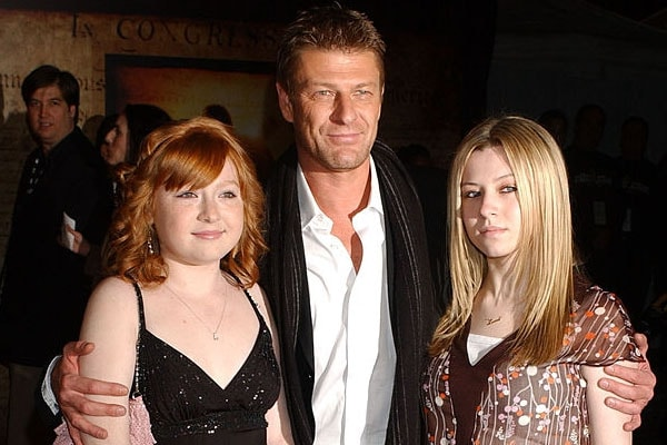 Sean Bean with his daughters Lorna and Molly